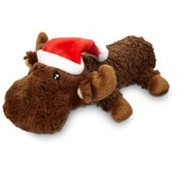 Petco Holiday Moose Squeaky Stick With Hat Dog Toy