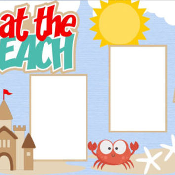 Scrapbook Page Kit or Premade Layout 12X12 2-Page - Fun at the Beach
