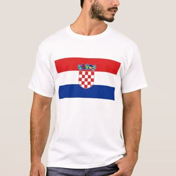 T Shirt with Flag of Croatia