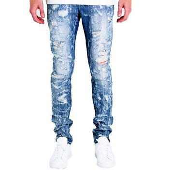 ONETOW Embellish NYC Erika Jeans In Blue