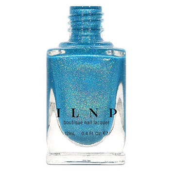 Float On - Vivid Aquamarine Blue Holographic Nail Polish