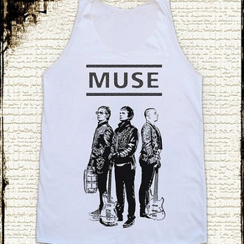 Size M -- MUSE BAND Shirts Muse Shirts Alternative Rock Shirts Women Shirts Vest Women Tank Top Women Tunics Sleeveless Singlet Shirts