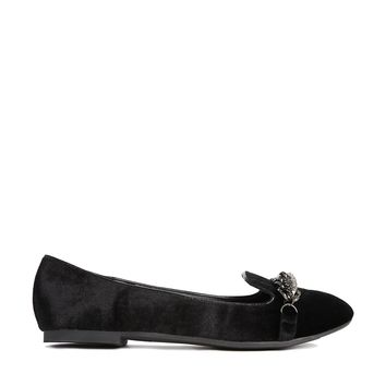 London Rebel Jewel Front Slipper Shoes