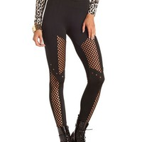 Mesh Pieced Studded Legging: Charlotte Russe