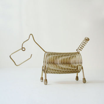 Vintage Mid Century Wire Animal Letter Holder