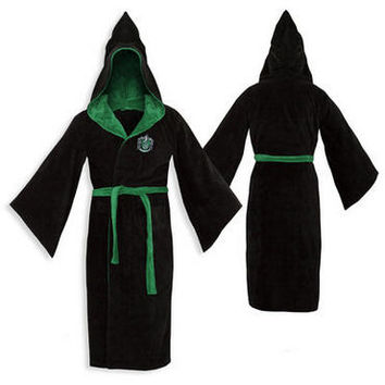 Slytherin Cotton Adult Bathrobe |