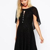 Traffic People Renaissance Cape Dress - Black