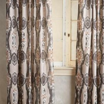Stretched Ikat Curtain by Anthropologie