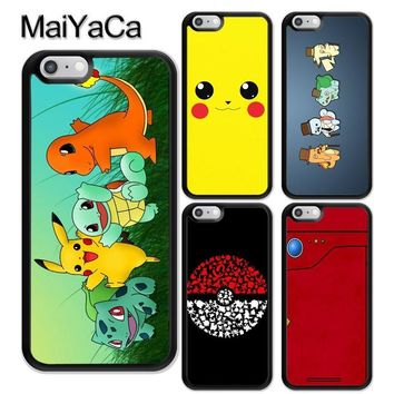 MaiYaCa S POKEBALL PIKACHUS Soft Rubber Phone Cases For iPhone 6 6S 7 8 Plus X 5 5S SE Back Cover Skin Shell CoqueKawaii Pokemon go  AT_89_9