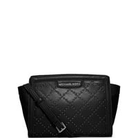 Selma Medium Micro Stud Quilted Messenger Bag, Black - MICHAEL Michael Kors