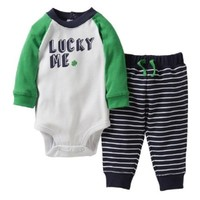 "Carter's Baby Boy's ""Lucky Me"" Bodysuit & Pants Set (6 Months)"