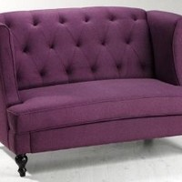 "Morgan Settee, 37.5""Hx56.5""W, PURPLE"