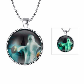 Luminous Fluorescence  Pendant Necklace for Halloween