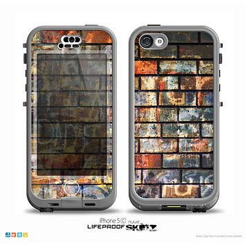 The Neon Graffiti Brick Wall Skin for the iPhone 5c nüüd LifeProof Case