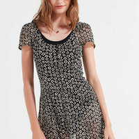 UO Mindy Button-Front Mini Dress | Urban Outfitters