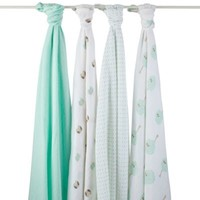 aden® by aden + anais ® 4-Pack Muslin Swaddle Blankets in Goodnight Owl