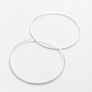 18k Gold + Sterling Silver Plated Large Hoop Earring | Urban Outfitters