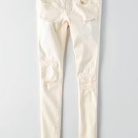 AEO Twill X Super Low Jegging , White