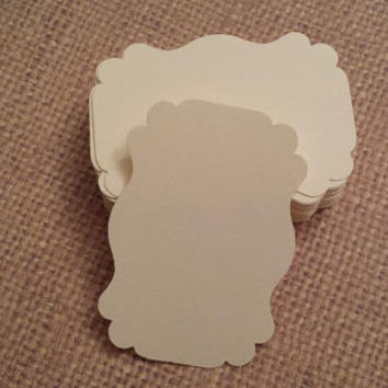 50 Ivory Label Tag/Blank Tag/Gift Tag/Bracket Tag/Wedding Tag/Favor Tag/Label Die Cuts Tag
