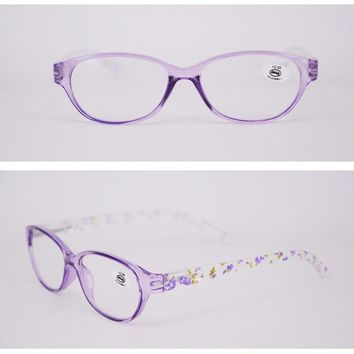 Women's Designer Fashion Reading Glasses for sale in high quality Oval Crystal Readers for Woman Black Purple Pink Discount case