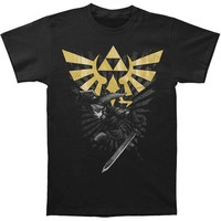Zelda Men's  Zelda With Link T-shirt Black Rockabilia