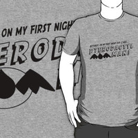On My First Night, I was... Pterodactyl Man! (Black Normal) by Khepera