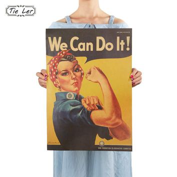 We Can Do It Kraft Paper Adornment Movie Vintage Poster Home Wall Decor