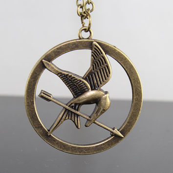 The Hunger Games Logo pendant Inspired by BeautyandLuck
