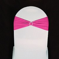 SINGLE RHINESTONE SPANDEX BANDS - Spandex Band - Sashes - Wholesale Wedding Chair Covers