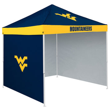 West Virginia Mountaineers NCAA 9' x 9' Economy 2 Logo Pop-Up Canopy Tailgate Tent