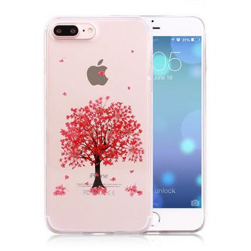 tree pressed flower case real dried flowers phone case limited handmade cover for iphone 7 7plus iphone se 5s 6 6 plus gift box 263  number 1