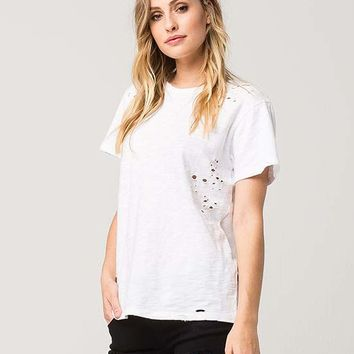 FULL TILT Destructed Womens Tee | Knit Tops & Tees