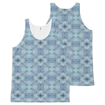 Soft Flowers All-Over Print Tank Top