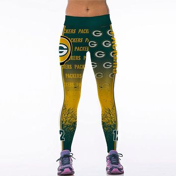 Green Bay Packers 3D Printed Team Leggings