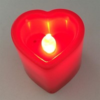 Heart Candle LED Light Plastics Fairy Lights Valentine Christmas Festival Wedding Party Decoration Red Pink with Button Battery