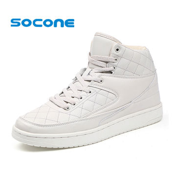 Socone New High Cut Skateboard Shoes For Men Outdoor Walking Shoes Lace-up Training Sneakers Super Tennis Shoes zapatillas homme