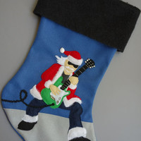 Guitar Christmas Stocking : Shredding Santa