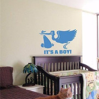 It's a Boy Kids Wall Art Sticker Baby Room Nursery 10