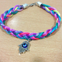 Calm The Storm Apparel — Colorful Braided Bracelet With Pendant