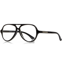 River Island Boys black clear lens glasses