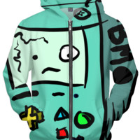 BMO abstraction adventure hoodie