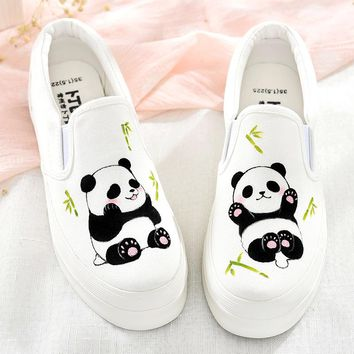 Summer Women Hand Painted Canvas Shoes Casual