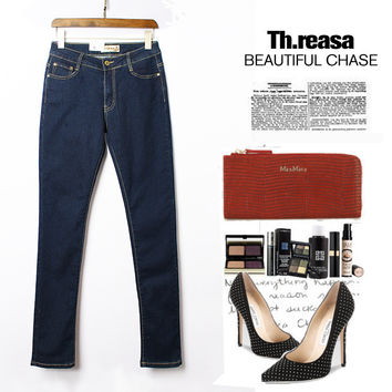 Hot Sale Plus Size Denim Pants Jeans [11597540175]