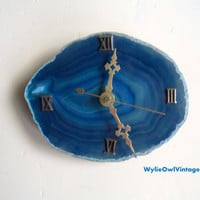 Vintage Blue Geode Wall Clock 1960s