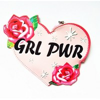 GRL PWR Girl Power Keyring Coin Purse