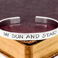 My Sun and Stars - Game of Thrones - Star - Moon - Aluminum Bracelet