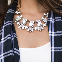 Aria Cream Crystal Statement Necklace