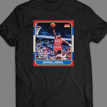 MICHAEL JORDAN FLEER ROOKIE BASKETBALL CARD VINTAGE T-SHIRT