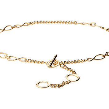 MICHAEL Michael Kors Nautical Knotted Chain Belt with Toggle Front Closure Light Polished Gold - Zappos.com Free Shipping BOTH Ways