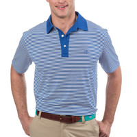 Southern Tide Game Set Match Stripe Polo - White